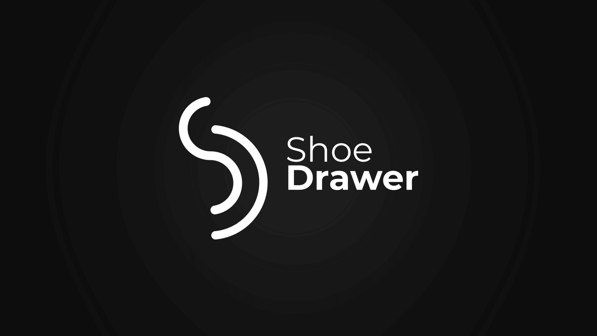 shoe drаwer logo design